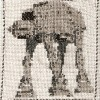 AT-AT lépegető cross stitch
