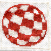 Amiga boing ball cross stitch
