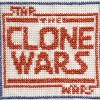 Clone wars logo cross stitch