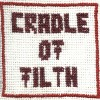 Cradle of filth cross stitch