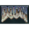 DOOM logo cross stitch