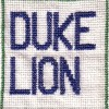 Duke Lion cross stitch