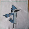 mordecai regular show cross stitch
