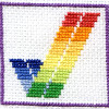 Amiga checkmark cross stitch