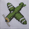 aeroplane cross stitch