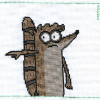 rigby regular show cross stitch