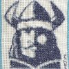 Viking arc cross stitch