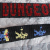 wizard of wor Guitar strap cross stitch